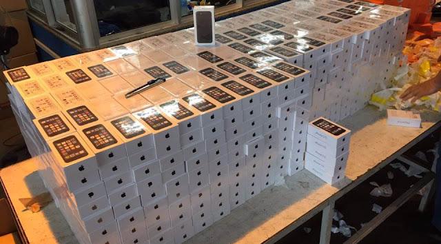 PRF encontra carga de iPhones em tanque de combustível