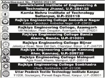 Teacher Job In Various Engineering College Uttar Pradesh