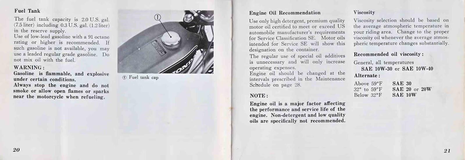 Honda CB125S Owner's Manual