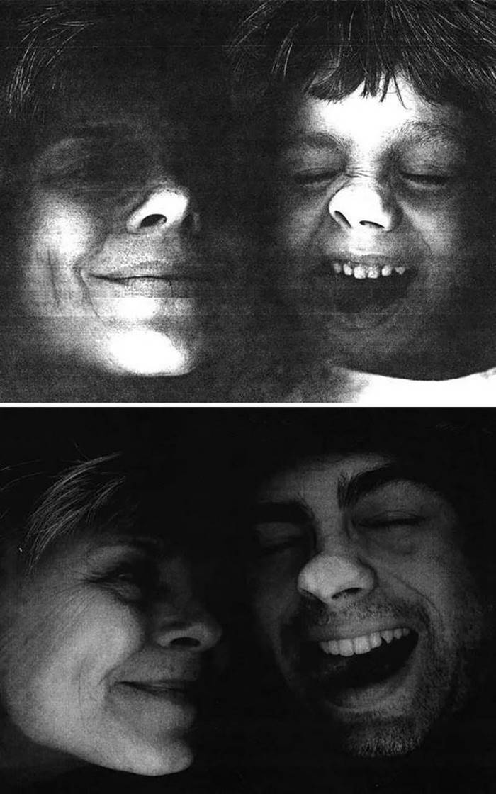 """Photograph with my son, made using Xerox."""