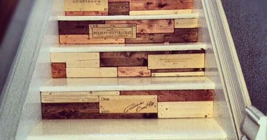 Desain tangga unik dari kayu pallet bekas  1000