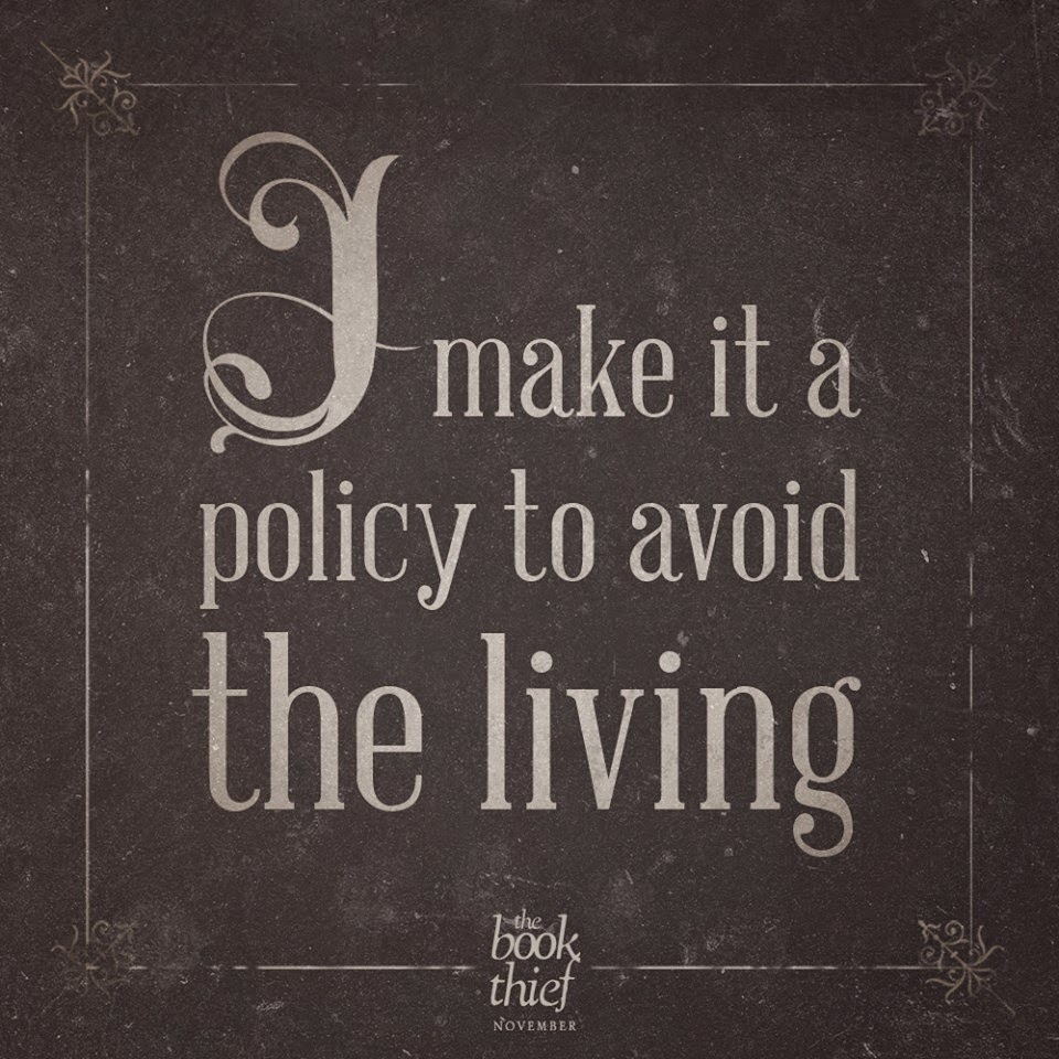 i make it a policy to avoid the living