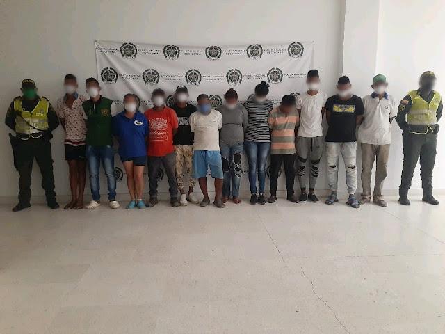 Banda de invasores capturada en Riohacha