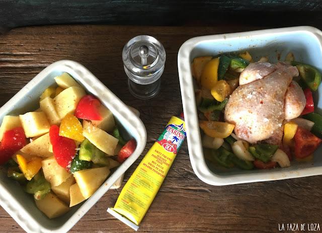 coquelet-con-salsa-harissa-y-pimientos