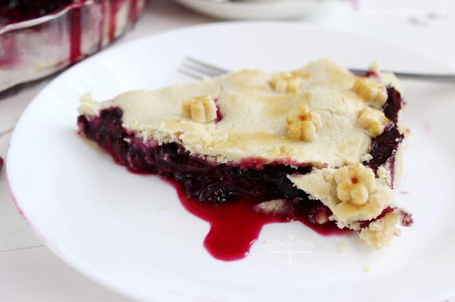 receta tarta de arándanos