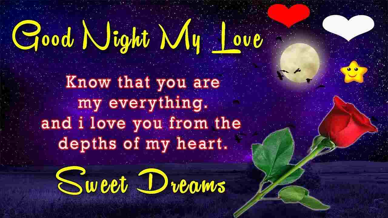 sweet good night images with love messages