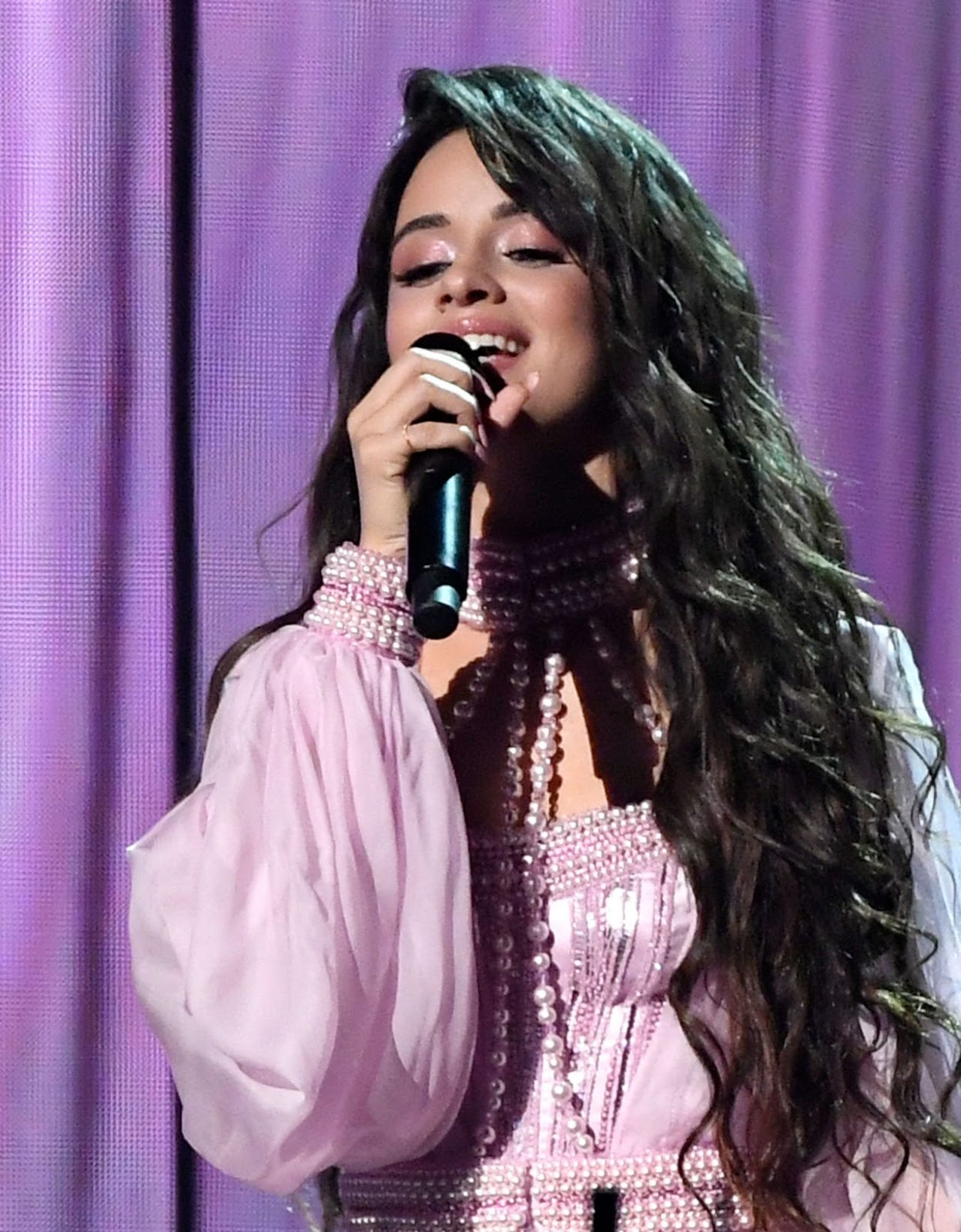 Camila Cabello Looks Hot in Pink Dress