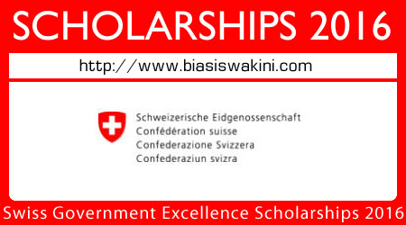 Swiss Government Excellence Scholarships 2016 for Foreign Scholars