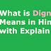 What is Dignity Means in Hindi with Explain - डिग्निटी का हिंदी अर्थ
