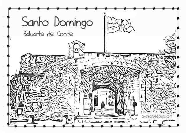 Independencia de la República Dominicana, Puerta del Conde para colorear