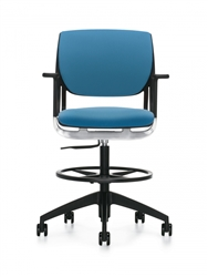 Global Novello Drafting Chair with Foot Ring