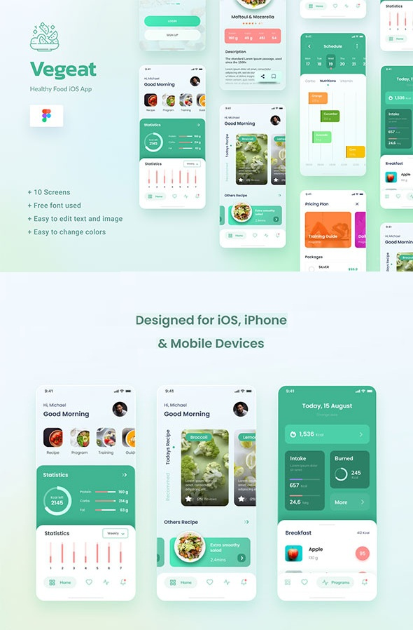 Healthy Food iOS App Template