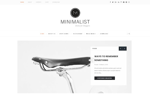 Minimalist Responsive Personal Blog Tutorial Tips & Tricks Blogger Template Theme