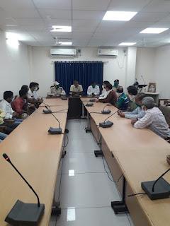 पुलिस कन्ट्रोल रुम में मेडिकल एसोसिएशन बुरहानपुर की बैठक का हुआ आयोजन