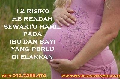bahaya HB rendah atau anemia pada ibu hamil