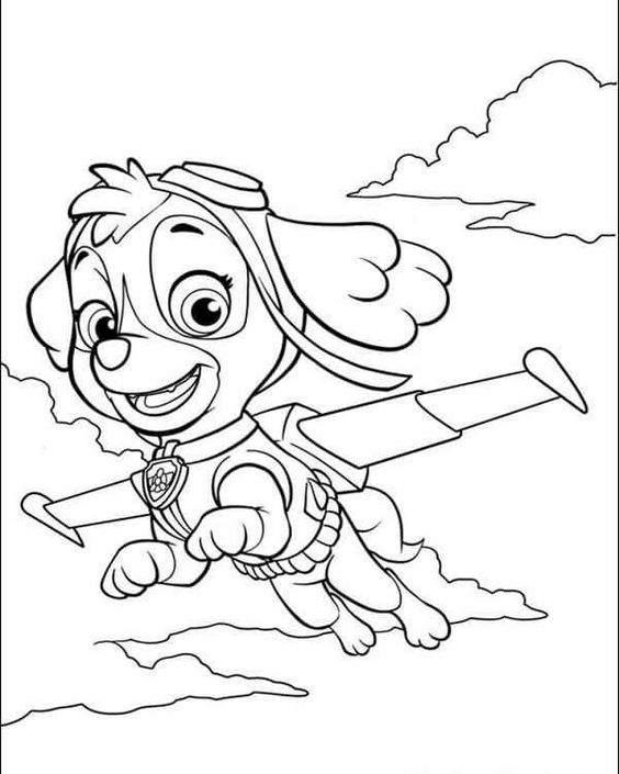 Paw patrol coloring pages 15