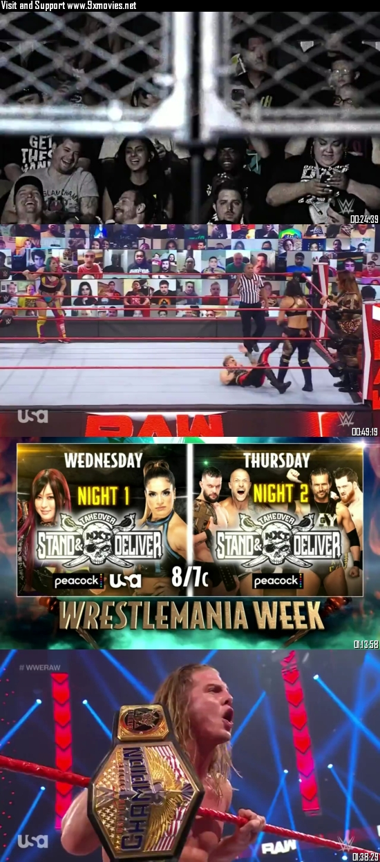 WWE Monday Night Raw 05 April 2021 HDTV 720p 480p 500MB