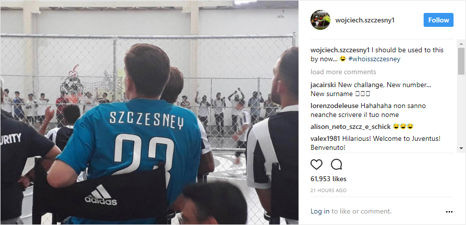 Wojciech Szczęsny suffers embarrassing start to his Juventus career