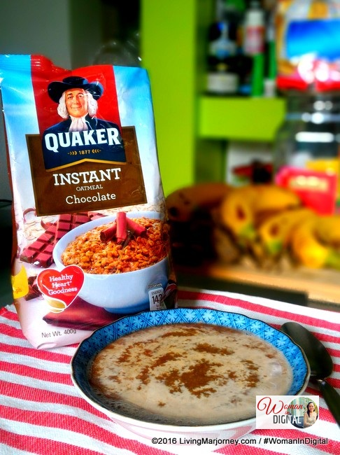 Quaker instant oatmeal chocolate