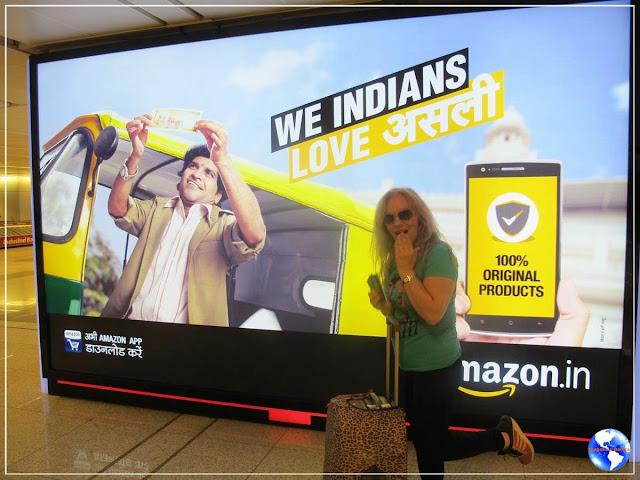 Aeroporto de Nova Delhi!