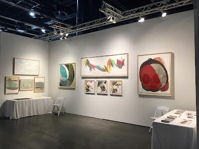 Pele Prints booth at the Texas Contemporary art fair
