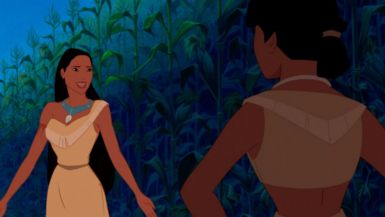 Pocahontas shrugging