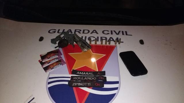 Guarda Municipal de Vitória (ES) apreende 'menor' que engatilhou arma em cabeça de vítima de roubo.