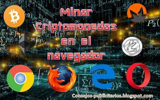 Minar Criptomonedas en el navegador