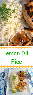 Lemon Dill Rice:  Fluffy, fragrant, and bursting with flavor.  The perfect side dish to your favorite grilled meat!  Slice of Southern