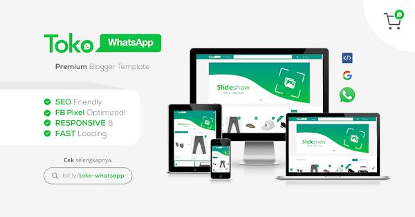 Template Toko Whatsapp Responsive Blogger Template
