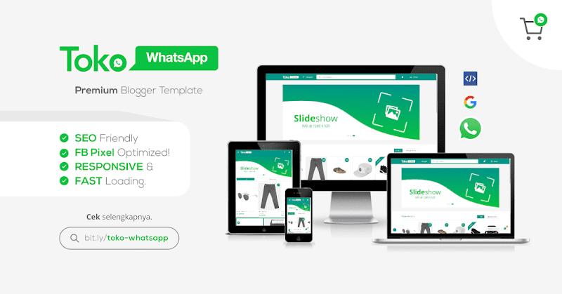 Template Toko Whatsapp Responsive Blogger Template - Responsive Blogger Template