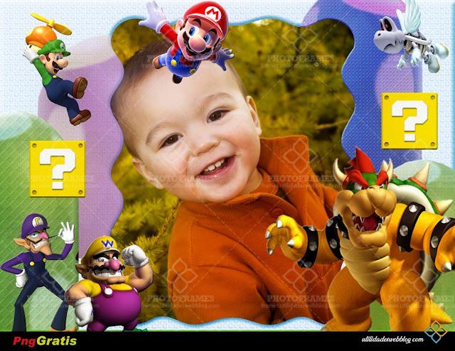 Marco digital inspirado en el videojuego Super Mario
