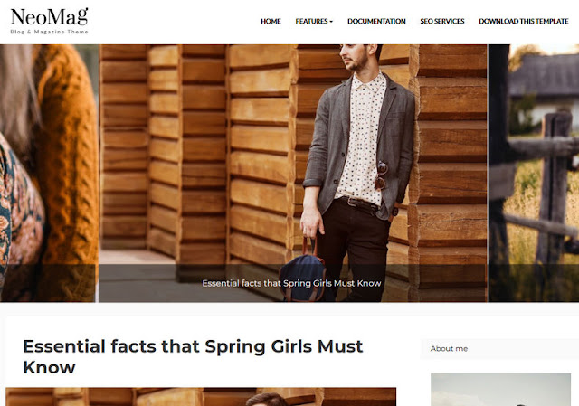 Template Blogger Responsive NeoMag