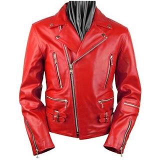 Gambar Jaket Kulit Merah