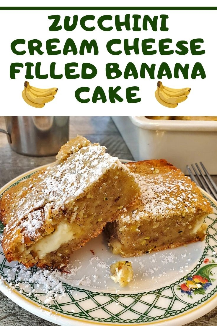 this is a zucchini banana cake pin for later