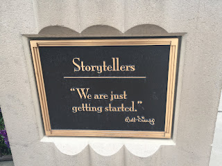 Storytellers We're Just Getting Started Plaque Walt Disney