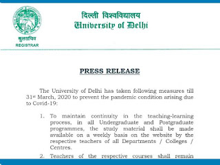 Delhi university exams suspend