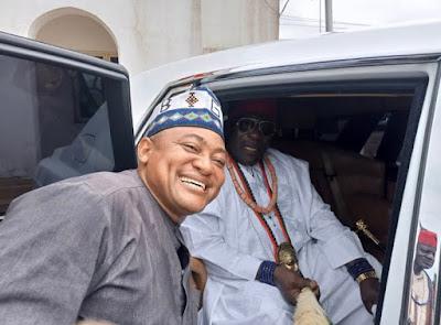 PHOTOS:  Attah Igala Receives Royal White Rolls Royce Phantom Ahead Of Kogi Election