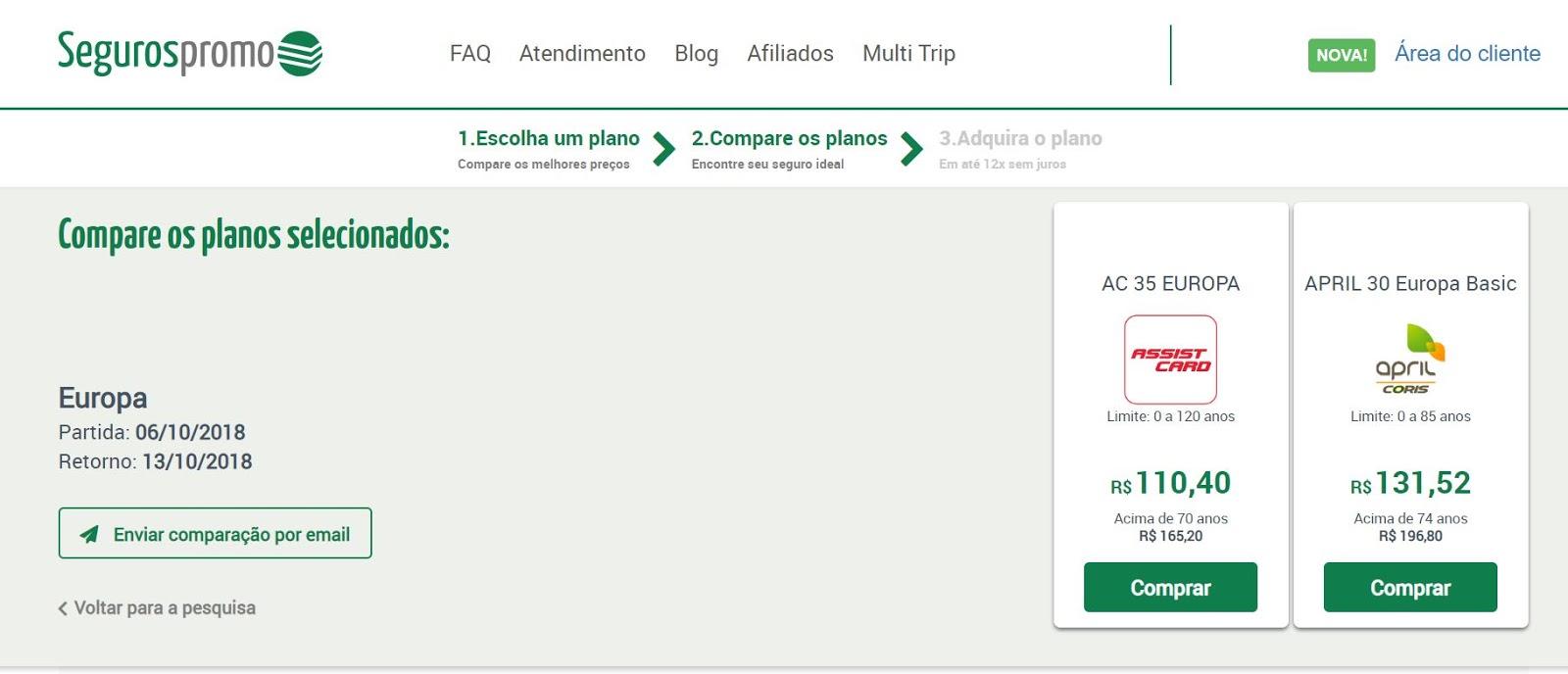 Seguros Promo, o melhor comparador de Seguro Viagem para Europa.