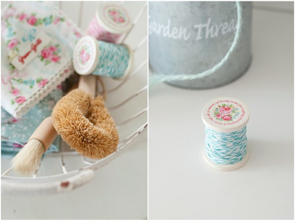 greengate bakers twine and fabric napkins
