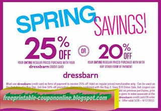 Free Printable Dress Barn Coupons