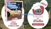 Logo DeRica #ViaggioInItalia: vinci gratis 20 weekend in dimore da sogno ! Anticipazione