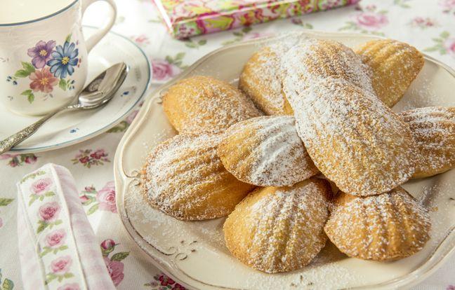 Sugar-free vanilla madeleines