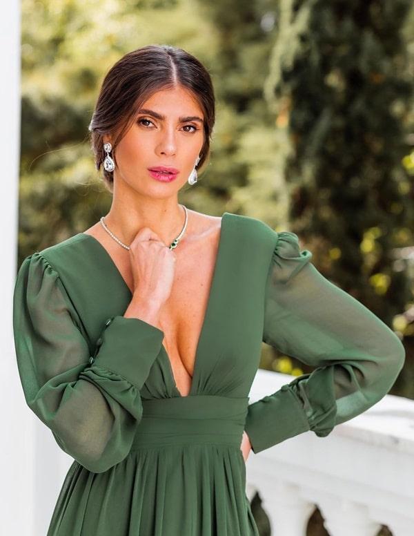 vestido verde oliva para madrinha de casamento