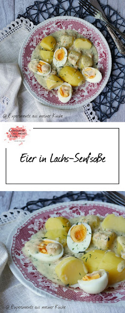 Eier in Lachs-Senfsoße | Rezept | Kochen | Essen | Hausmannskost | Fisch | Kartoffeln