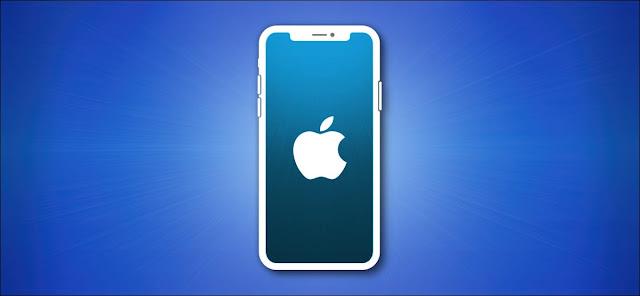 مخطط Apple iPhone على الأزرق