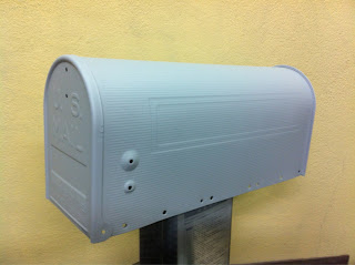 25 - カスタムペイント工程 郵便ポスト 奈良フレイムス