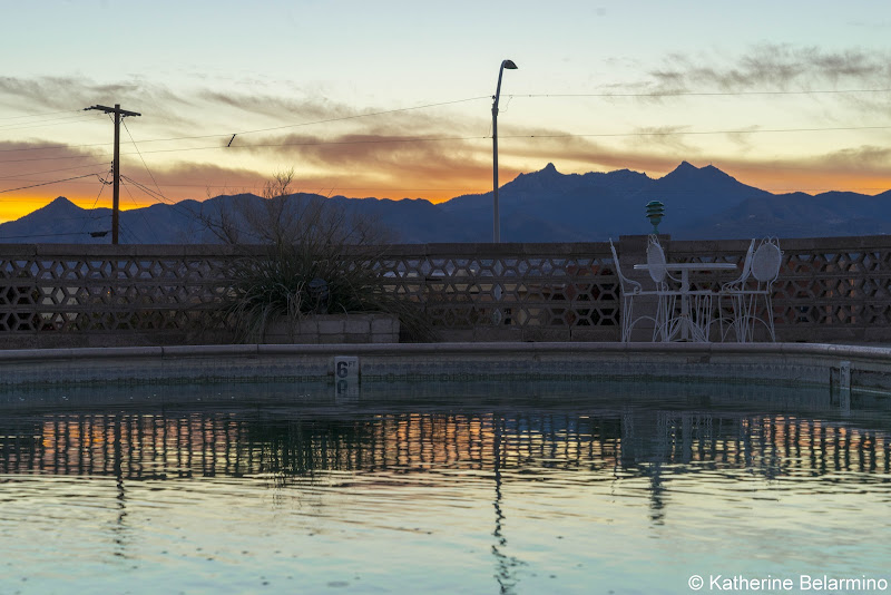 Hill Top Motel Pool and View Route 66 Things to Do in Kingman Arizona