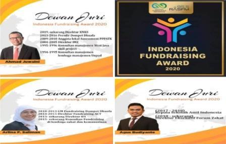 Dewan juri pada ajang Indonesia Fundraising Award 2020 ini adalah orang-orang yang sudah berpengalaman di lembaga penggalangan dana