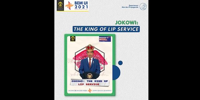 "BEM UI Dipanggil Soal Poster ""Jokowi The King of Lip Service"", Aktivis 98: Rektorat Bukan Pengawas Pikiran"